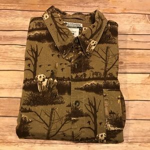 Columbia River Lodge Hunting Dog &Duck Button Down
